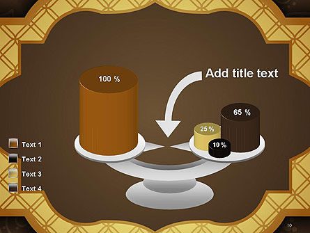 Gold Border Floral Pattern PowerPoint Template Slide 10