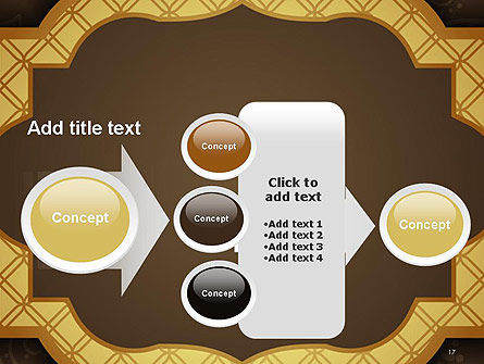Gold Border Floral Pattern PowerPoint Template Slide 17