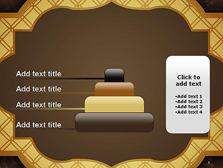 Gold Border Floral Pattern PowerPoint Template Slide 8