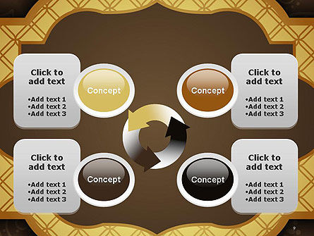 Gold Border Floral Pattern PowerPoint Template Slide 9