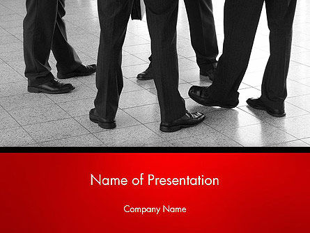 Business: Business People Standing PowerPoint Template #14234