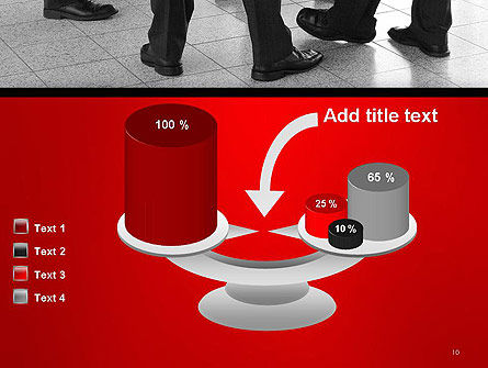 Business People Standing PowerPoint Template Slide 10
