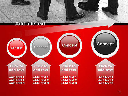 Business People Standing PowerPoint Template Slide 13