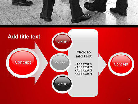 Business People Standing PowerPoint Template Slide 17