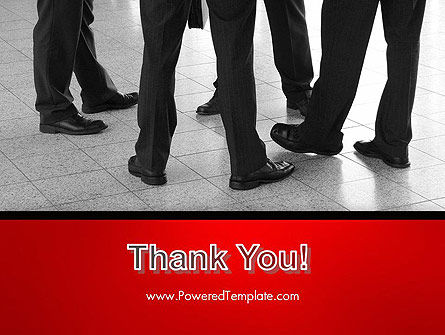 Business People Standing PowerPoint Template Slide 20