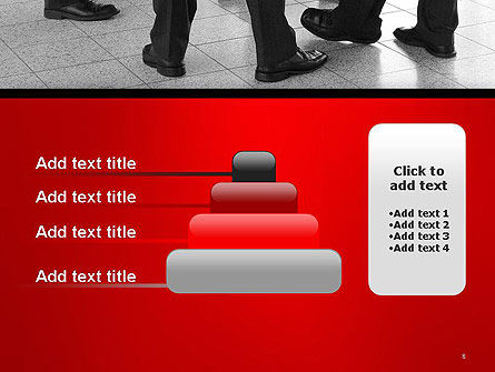 Business People Standing PowerPoint Template Slide 8