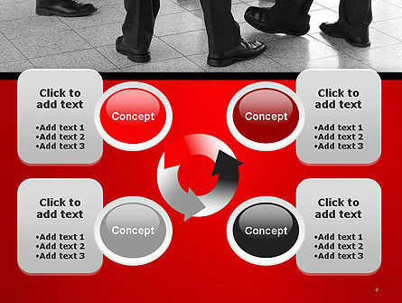 Business People Standing PowerPoint Template Slide 9