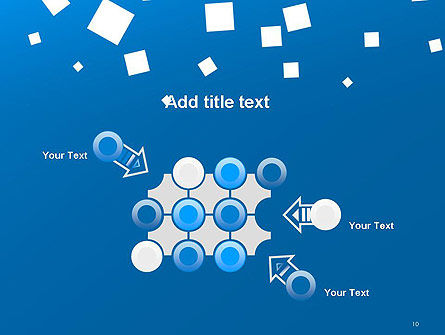 White Flat Squares on Blue PowerPoint Template Slide 10