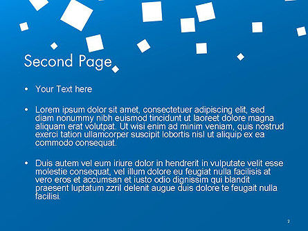 White Flat Squares on Blue PowerPoint Template, Slide 2, 14237, Abstract/Textures — PoweredTemplate.com