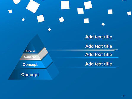 White Flat Squares on Blue PowerPoint Template Slide 4