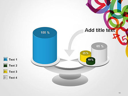 Numbers Background PowerPoint Template Slide 10