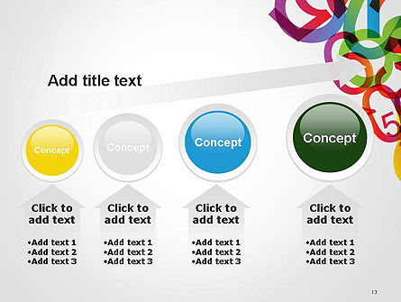 Numbers Background PowerPoint Template Slide 13