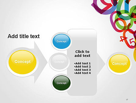 Numbers Background PowerPoint Template Slide 17