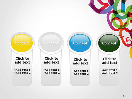 Numbers Background PowerPoint Template Slide 5