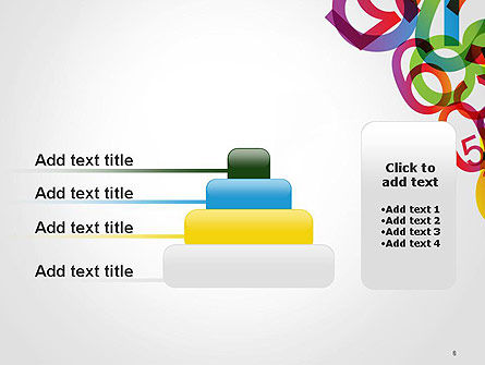 Numbers Background PowerPoint Template Slide 8