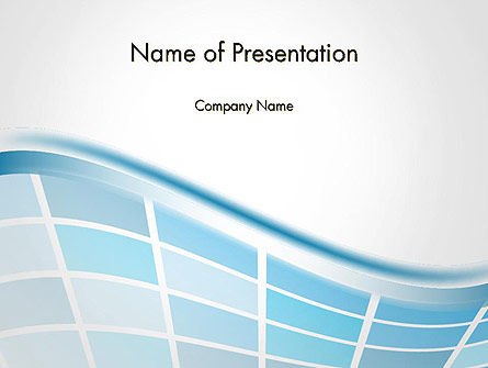 Abstract/Textures: Wavy Tech Abstract PowerPoint Template #14239