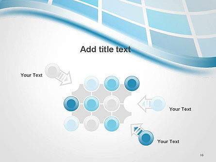 Wavy Tech Abstract PowerPoint Template Slide 10