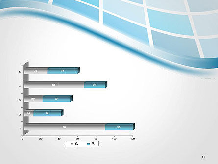 Wavy Tech Abstract PowerPoint Template Slide 11