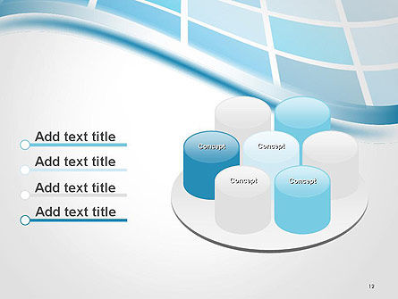 Wavy Tech Abstract PowerPoint Template Slide 12