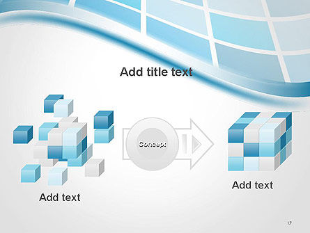 Wavy Tech Abstract PowerPoint Template Slide 17