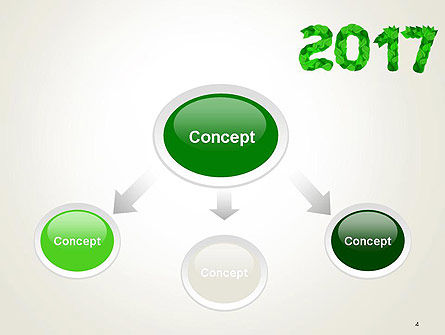 Year 2017 Made from Green Leaves PowerPoint Template Slide 4