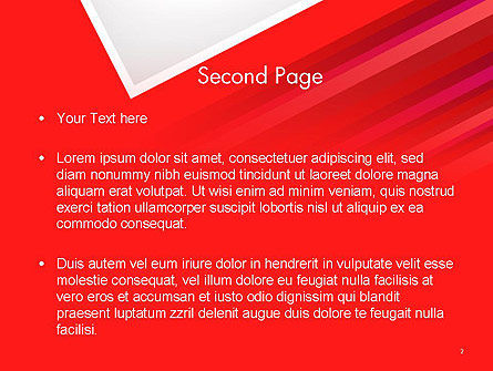 Right Angle Abstract PowerPoint Template Slide 2