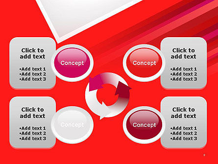 Right Angle Abstract PowerPoint Template Slide 9