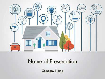 Smart House PowerPoint Template, 14243, Technology and Science — PoweredTemplate.com