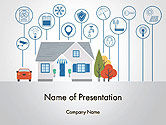 Technology and Science: Smart House PowerPoint Template #14243