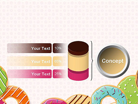 Colorful Donuts PowerPoint Template Slide 11