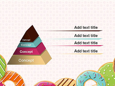 Colorful Donuts PowerPoint Template Slide 12
