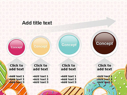 Colorful Donuts PowerPoint Template Slide 13