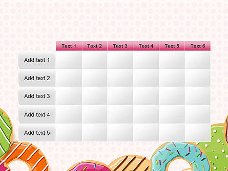 Colorful Donuts PowerPoint Template Slide 15