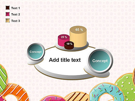 Colorful Donuts PowerPoint Template Slide 16