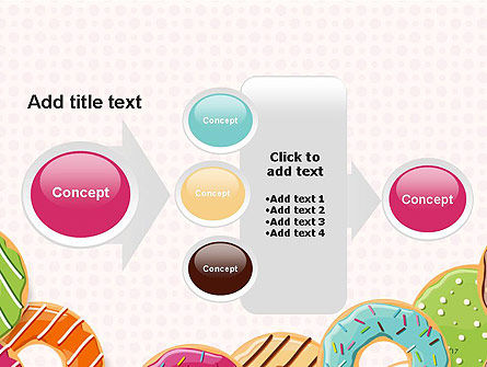 Colorful Donuts PowerPoint Template Slide 17
