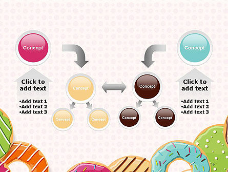 Colorful Donuts PowerPoint Template Slide 19