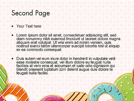 Colorful Donuts PowerPoint Template Slide 2