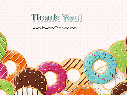 Colorful Donuts PowerPoint Template Slide 20
