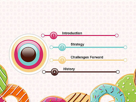 Colorful Donuts PowerPoint Template Slide 3
