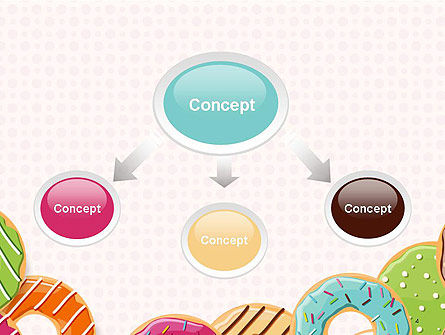 Colorful Donuts PowerPoint Template, Slide 4, 14245, Food & Beverage — PoweredTemplate.com
