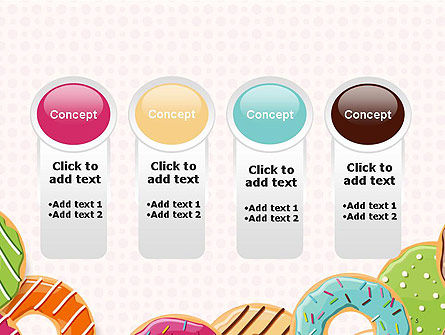 Colorful Donuts PowerPoint Template Slide 5