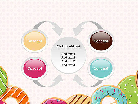 Colorful Donuts PowerPoint Template Slide 6
