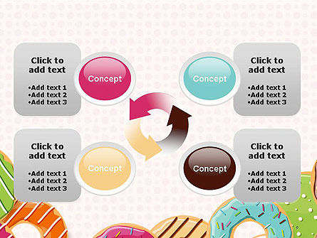 Colorful Donuts PowerPoint Template Slide 9