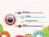 Colorful Donuts PowerPoint Template#3