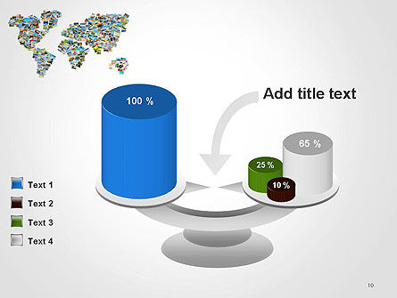 Photos Placed as World Map Shape PowerPoint Template Slide 10