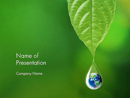 Nature & Environment: Planet Earth Dew Drop PowerPoint Template #14247