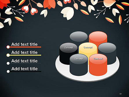 Floral Border PowerPoint Template Slide 12
