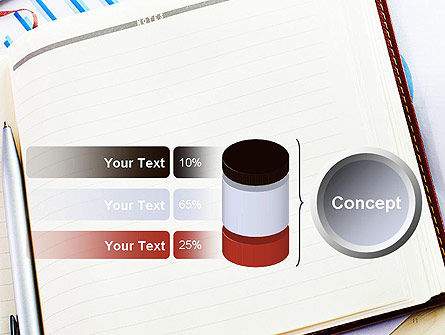 Table with Notebook Smartphone and Reports PowerPoint Template Slide 11
