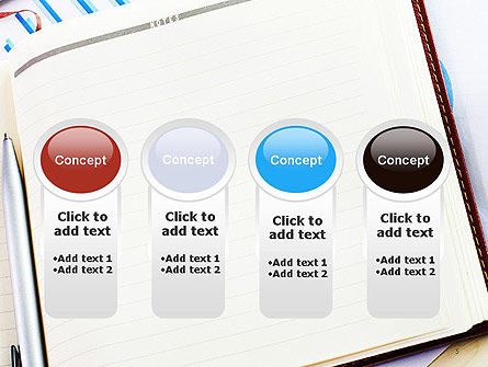 Table with Notebook Smartphone and Reports PowerPoint Template Slide 5