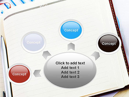 Table with Notebook Smartphone and Reports PowerPoint Template Slide 7